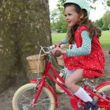 "Detský bicykel Bobbin Gingersnap 16"" ružovo-červený"