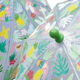 Detský priehľadný dáždnik meniaci farbu Floss & Rock - Jungle