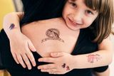 Dočasné tetovačky Kresky - Jednorožce