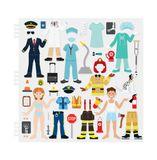 Znovupoužiteľné nálepky Reusable Puffy Stickers: Cool Careers