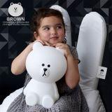 Mr Maria Detská LED lampa Brown S - biely medvedík