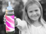 Pura TERMO nerezová fľaša so slamkou 260ml Modrá