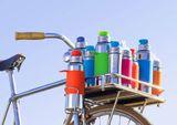 Pura nerezová fľaša so športovým uzáverom 550ml Zelenomodrá