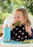 Pura nerezová fľaša s náustkom 325ml Zelená