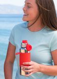 Pura TERMO nerezová fľaša so športovým uzáverom 650ml Červená
