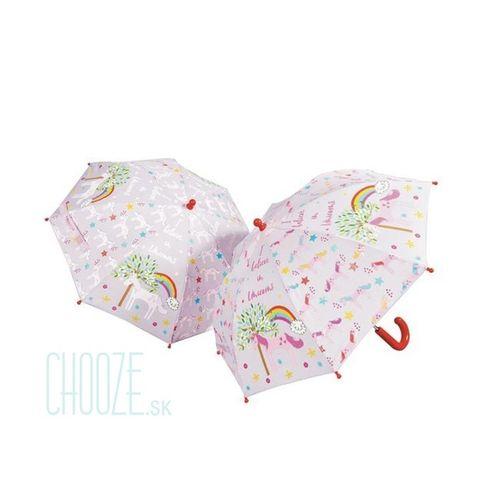 Detský dáždnik meniaci farbu Floss & Rock - Unicorn