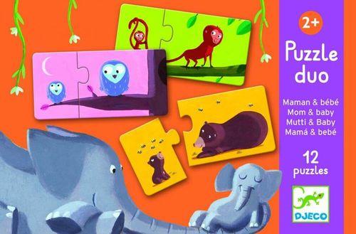 Djeco Puzzle duo: Mama a bábätko