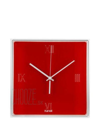 Nástenné hodiny Tic&Tac - 10 orangy red