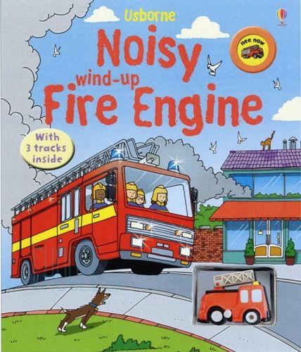 Kniha s hračkou: Noisy Wind-Up Fire Engine