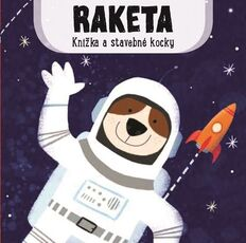 Knižka a stavebné kocky: Raketa