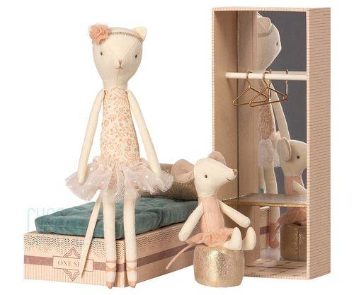 Maileg Myška a Mačka Baletka v krabičke