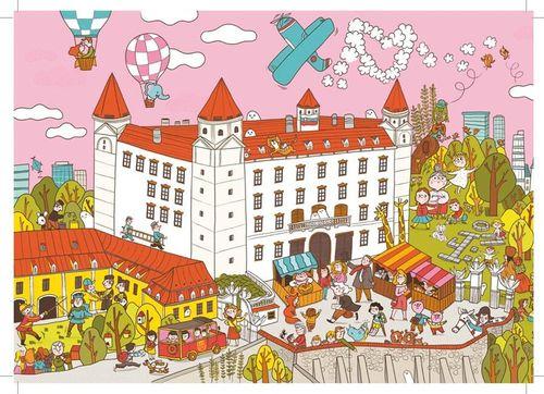 Pohľadnica Bratislava: Bratislavský hrad