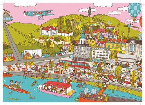 Pohľadnica Bratislava: Nábrežie