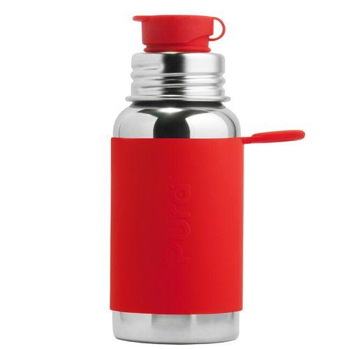 Pura nerezová fľaša so športovým uzáverom 550ml Červená