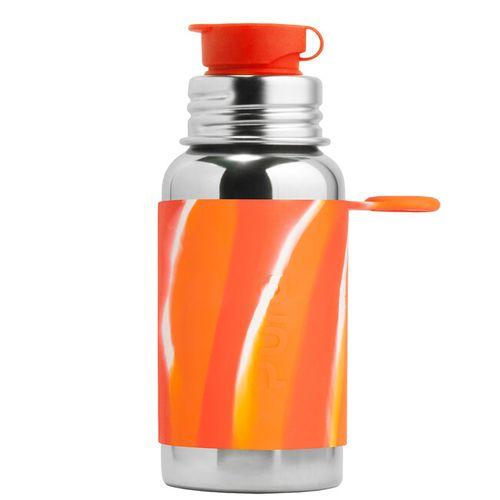 Pura nerezová fľaša so športovým uzáverom 550ml Oranžovobiela