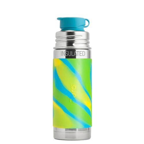 Pura TERMO nerezová fľaša so športovým uzáverom 260ml Zelenomodrá
