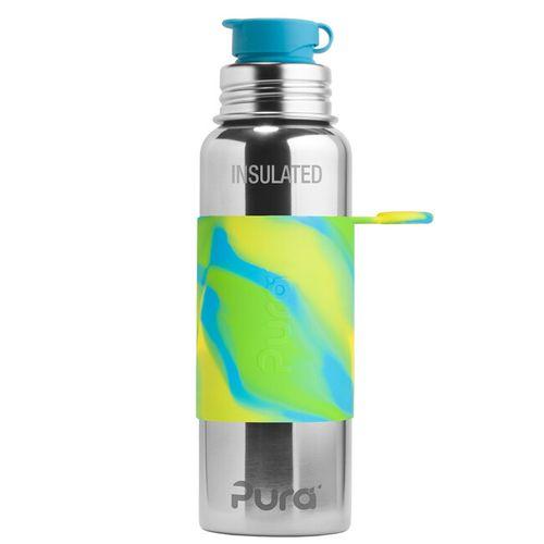 Pura TERMO nerezová fľaša so športovým uzáverom 650ml Zelenomodrá