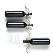Stojan na víno Flow - Nerez