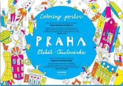 Omaľovánka pre deti - Mapa Praha