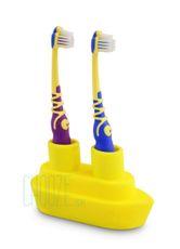 Držiak na zubné kefky Boat - Yellow