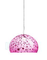 Závesná lampa FLY Kids - KK pink stars