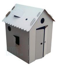 Kartónový domček Mi Casa - Biely