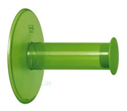 Držiak na toaletný papier PlugNRoll - Transparent green