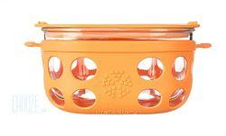 Sklenená dóza na potraviny Lifefactory 950ml - Orange