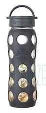 Sklenená fľaša Lifefactory 650ml klasický uzáver - Onyx organic