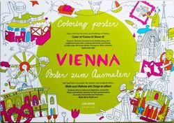 Omaľovánka pre deti - Mapa Viedeň