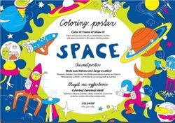 Omaľovánka pre deti - Vesmír
