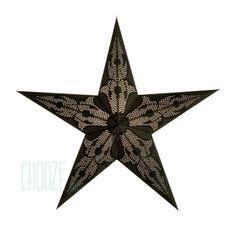 Vianočná hviezda Damask M - čierna