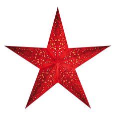 Vianočná hviezda Mono M - červená