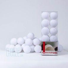 Sveteľná reťaz Cotton Ball Lights 20ks - biela