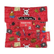 Textilný obedár SnackNGo Kids pirat - Pink