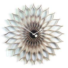 Nástenné hodiny Sunflower clock - Birch