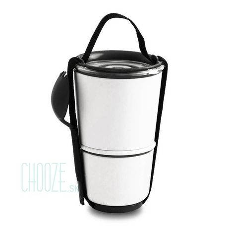 Black-Blum Obedár na polievku Lunch Pot White - Black