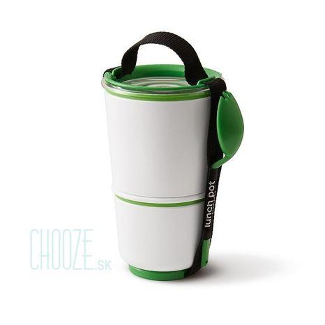 Black-Blum Obedár na polievku Lunch Pot White - Green