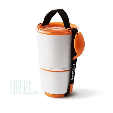 Black-Blum Obedár na polievku Lunch Pot White - Orange