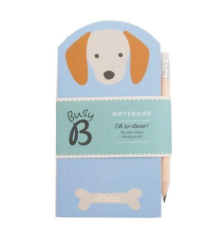 Busy B Mini zápisník s ceruzkou: Dog