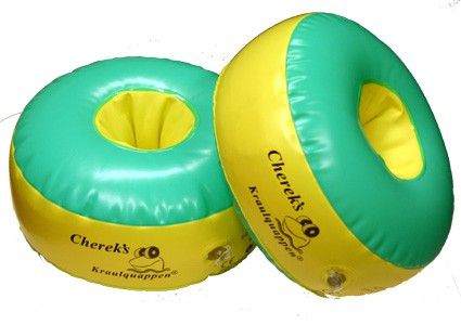Cherek plavecké rukávniky pre začiatočníkov: Zelené