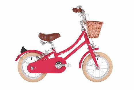 "Detský bicykel Bobbin Gingersnap 12"" ružovo-červený"