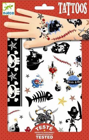 Djeco Dočasné tetovačky: Piráti