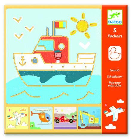 Djeco Kreslenie podľa šablóny: Dopravné prostriedky