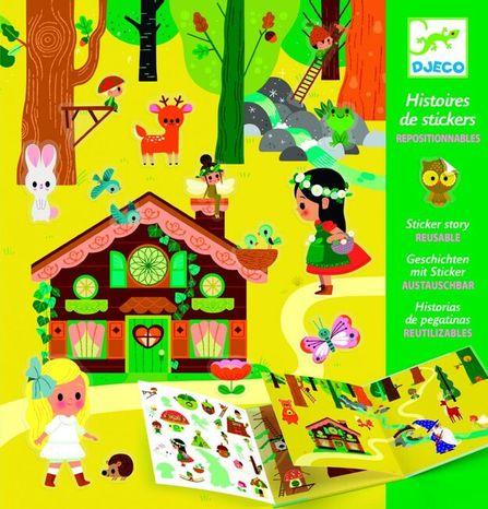 Djeco Príbehy zo samolepiek: Magický les