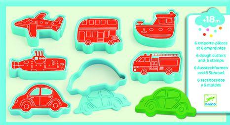Djeco Vykrajovacie formičky a pečiatky: Dopravné prostriedky