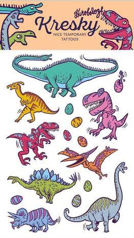 Dočasné Tetovačky Kresky - Dinosaury
