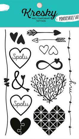 Dočasné tetovačky Kresky - Zaľúbené