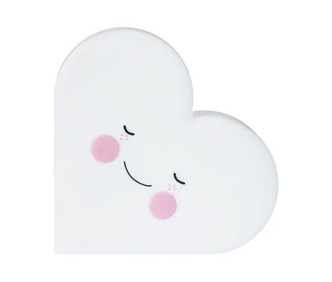 Detská nočná LED lampa Heart - Biele srdiečko