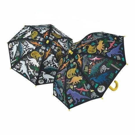 Detský dáždnik meniaci farbu Floss & Rock - Dinosaur